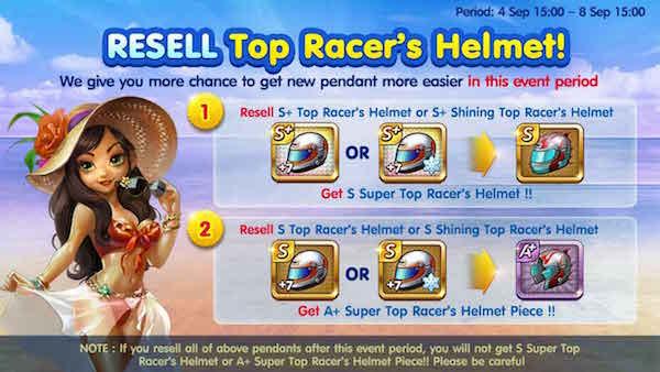 Trik Cara Ampuh untuk Mendapatkan Pendant Super Top Racer's Helmet Event 4 September 2015.
