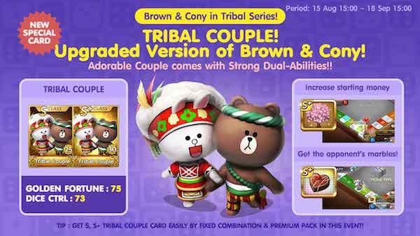 Ulasan dan Trik Cara mendapatkan Kartu Karakter Tribal Couple Brown & Cony Get Rich 15 September 2015.