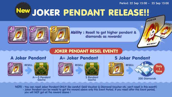 Ulasan dan Cara Mendapatkan Pendant S Joker