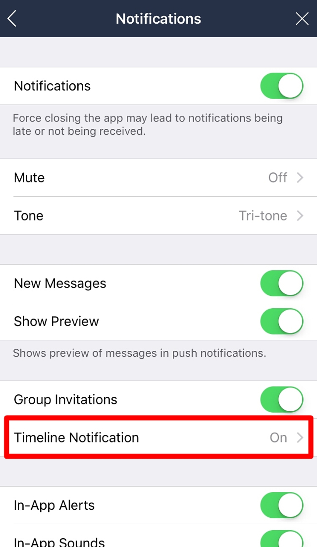 how to turn off non human notifications