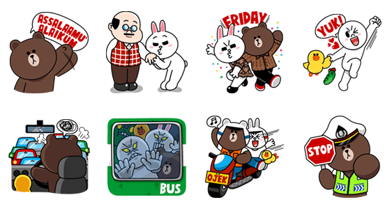 Charge line credit and get the free sticker set line store