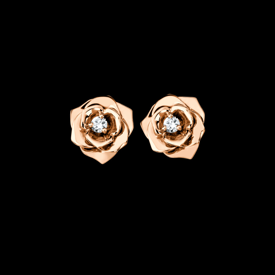 Tiaria Shop Line Dhtxdfj047 Perhiasan Cincin Emas Putih Dan Zircon White Gold 9k Rose Earing Anting 18k