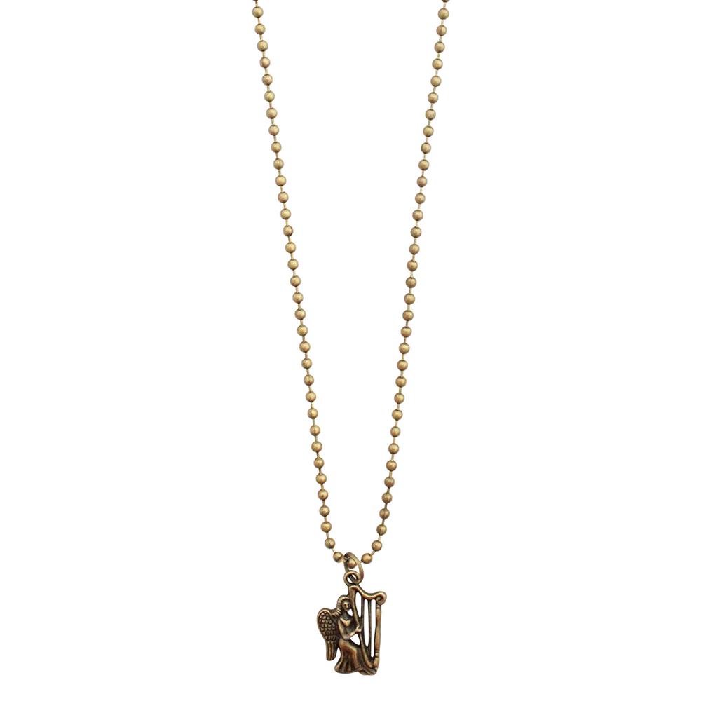 Musical Necklace Bronze - Harp Angel / Kalung Motif Musik / Unique Gift