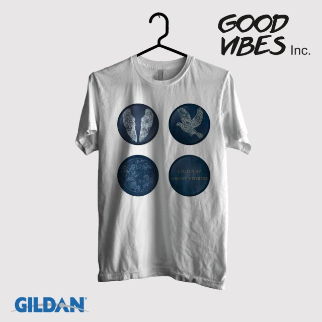 Kaos Band Coldplay Original Gildan - Ghost Stories Album artwork: Rp 140.000