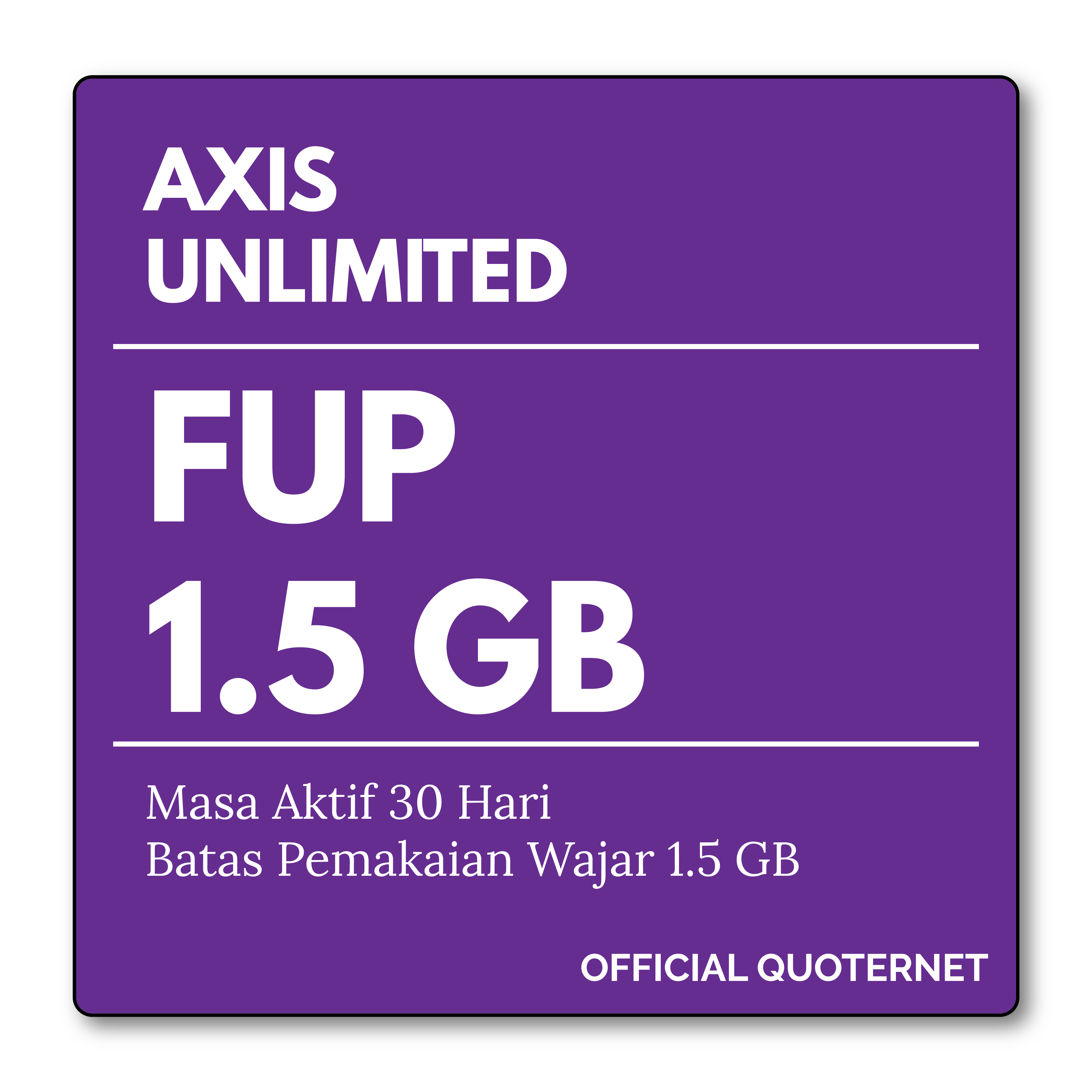 Quoternet Shop Line Xl Data Hodrod Rp 100000 Kuota Internet Axis Unlimited Fup 15 Gb