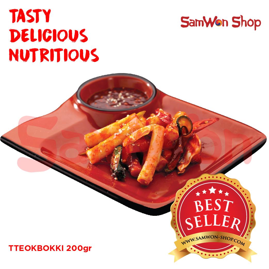 SAMWON TTEOKBOKKI / TOKPOKI 200 Gr Fresh - SamWon Makanan Korea ENAK LEZAT BERGIZI (KUE