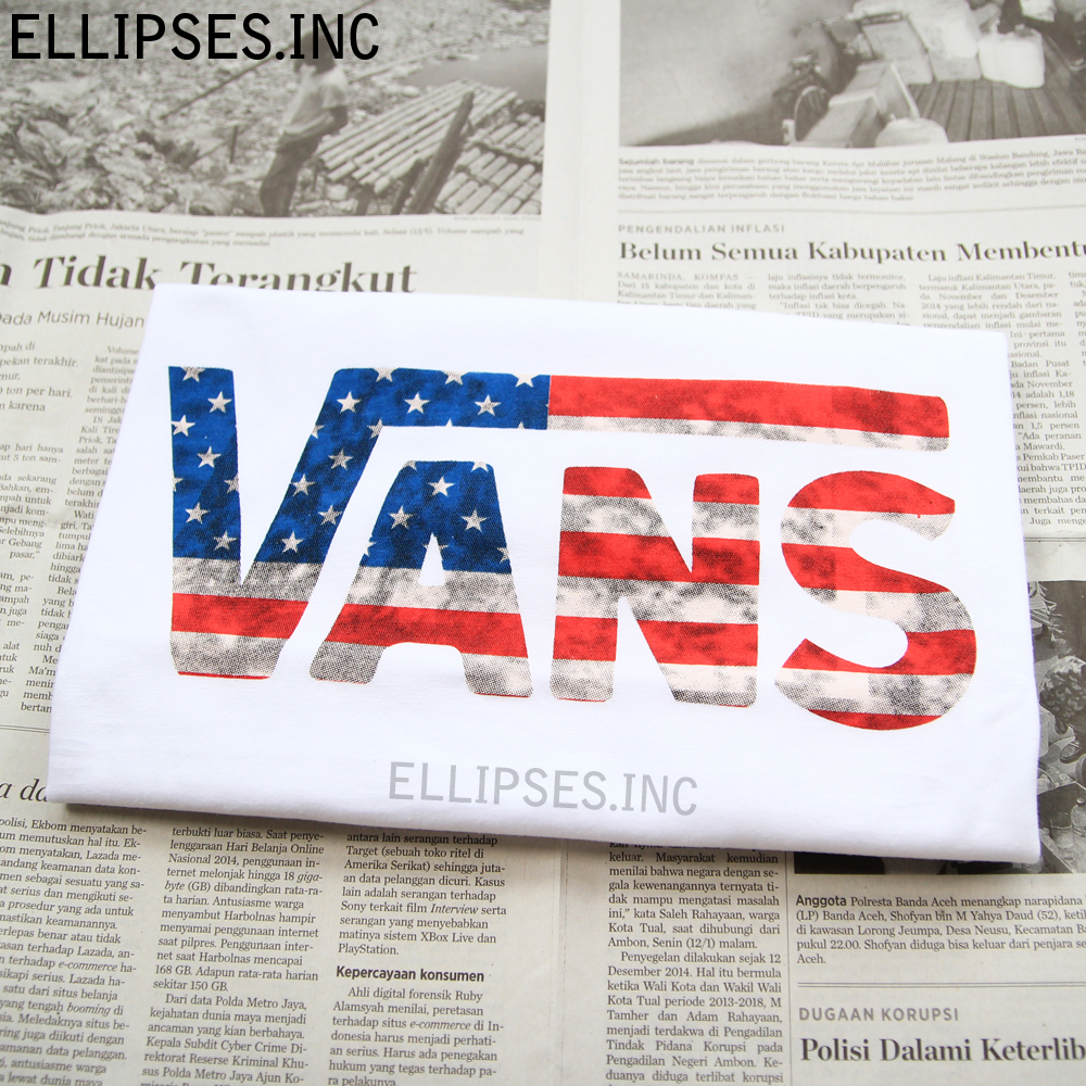 Tumblr Tee / T-Shirt / Kaos Wanita Lengan Pendek VANS USA Warna Putih
