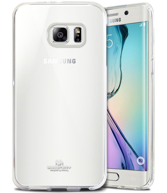 Mercury Jelly Clear Anti Yellow Case for Samsung Galaxy S6 Edge Transparan