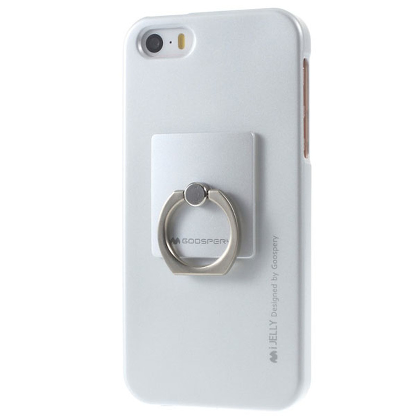 Mercury iJelly Metal with iRing TPU Soft Case iPhone 7+ Plus - Silver