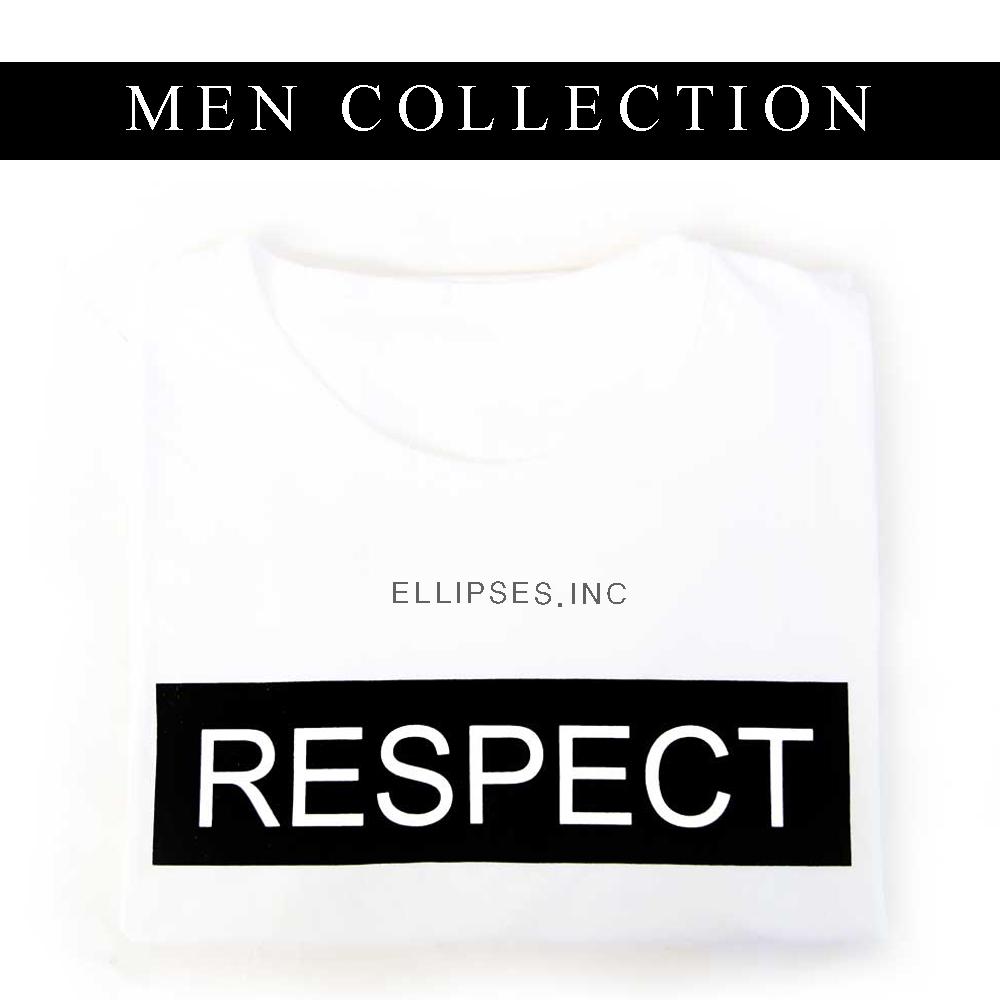 Tumblr Tee / T-Shirt / Kaos Pria Lengan Pendek Respect Warna Putih