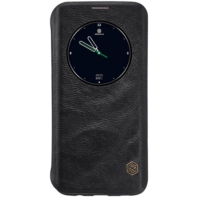 Nillkin Qin View Leather Flip Case Samsung Galaxy S7 Edge Casing Cover Flip - Hitam: