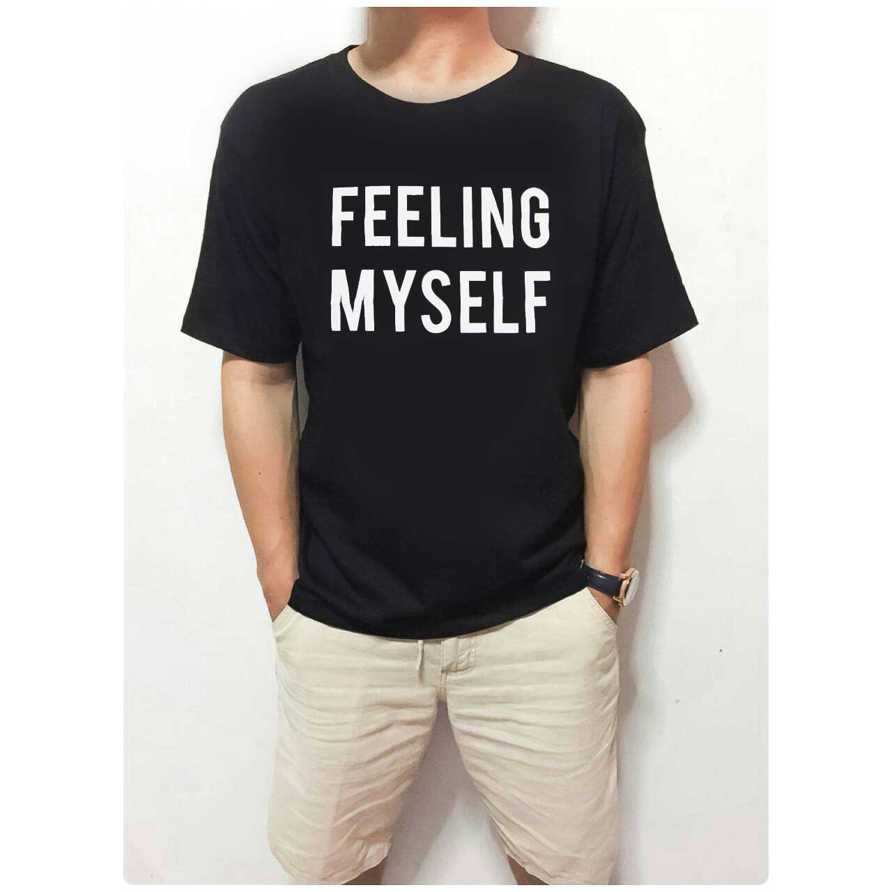 Ellipsesinc Shop Line Kaos Pria Lengan Pendek Basic White Shirt Tumblr Tee T Feeling Myself Fit To Xl