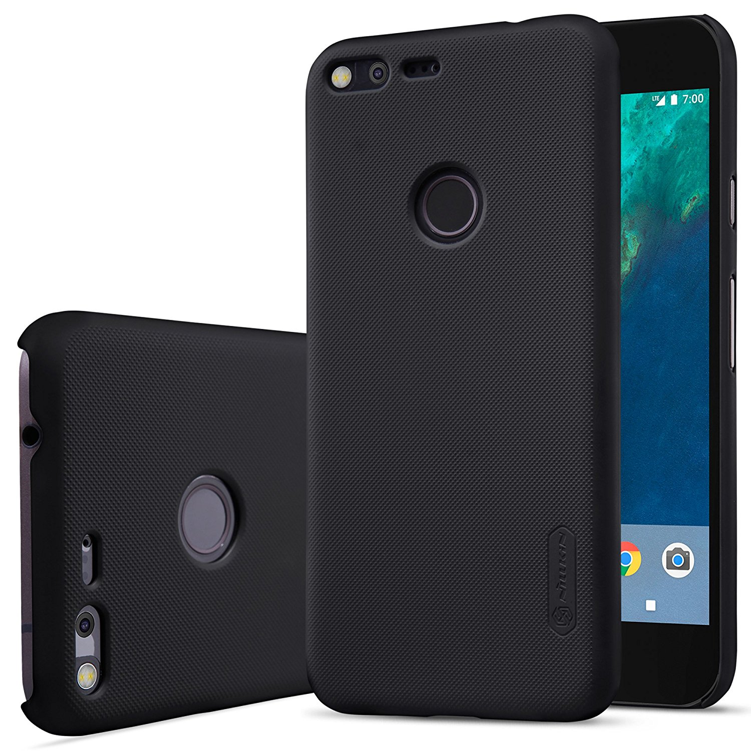 Nillkin Frosted Hard Case Google Pixel - Casing Cover - Hitam