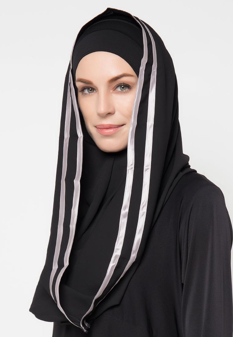 Diindri Hijab Jilbab instan Royal Instan Hoodie List Silver