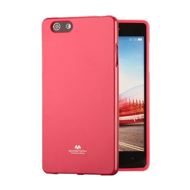 Mercury Jelly TPU Soft Case Oppo R1 R829 - Pink Tua: Rp 110.000 Rp 74.000