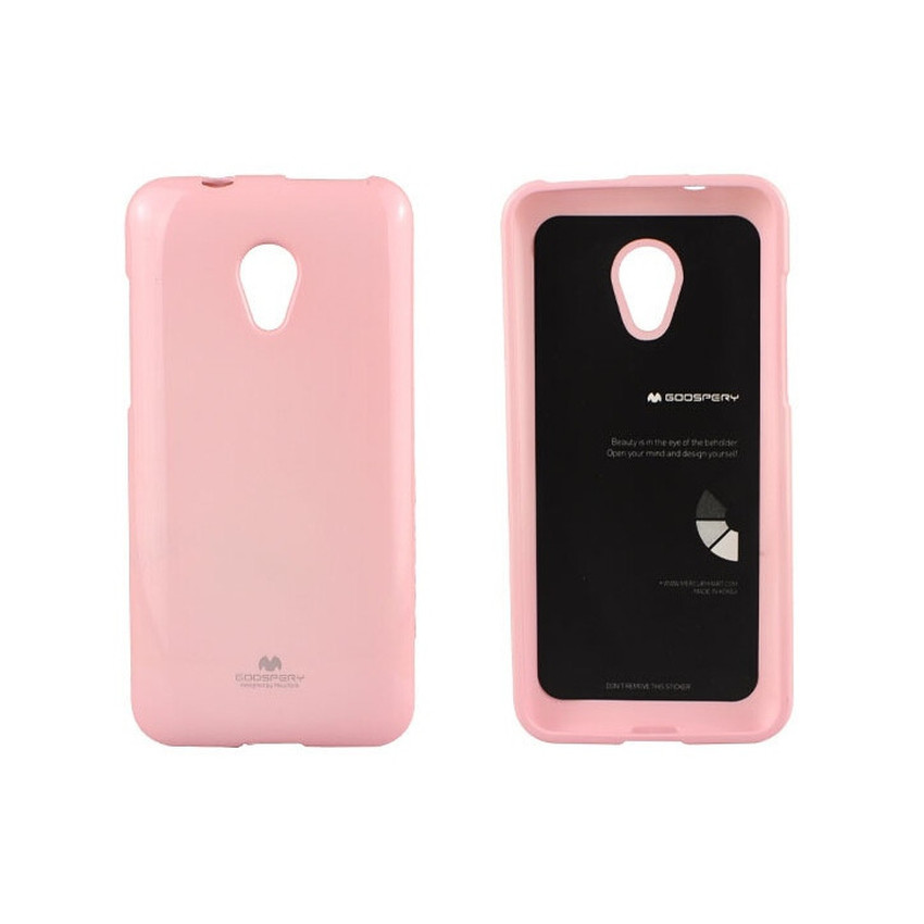 Mercury Jelly TPU Soft Case Oppo Yoyo - Pink Muda