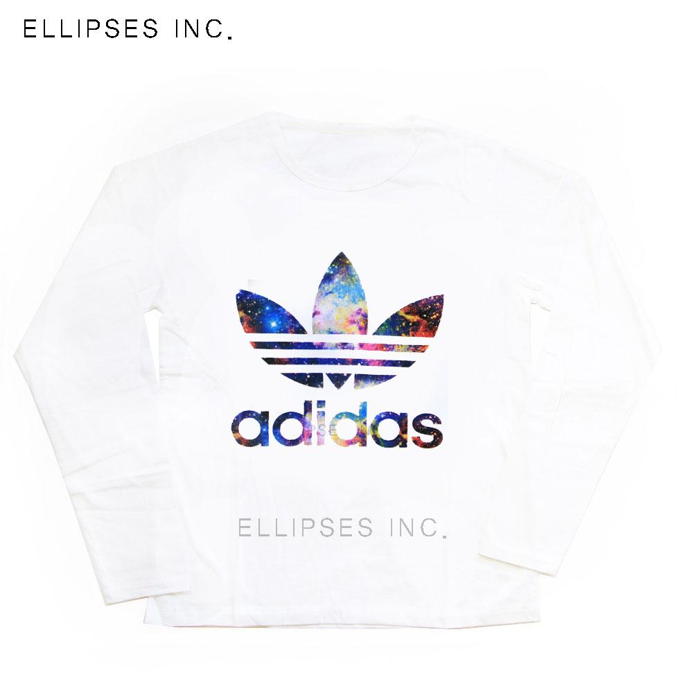 Tumblr Tee / T-Shirt / Kaos Wanita Lengan Panjang Adidas Galaxy Warna Putih