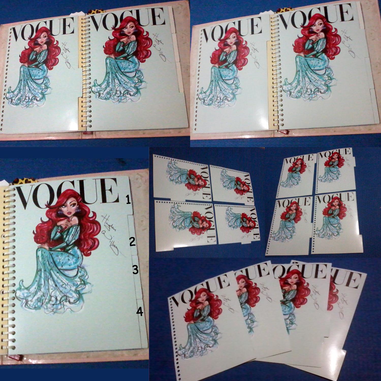 House Of Design Shop Line 1 Set Isi 4 Pembatas Binder 26 Ring Ukuran B5 Samping Vogue Ariel Lembar
