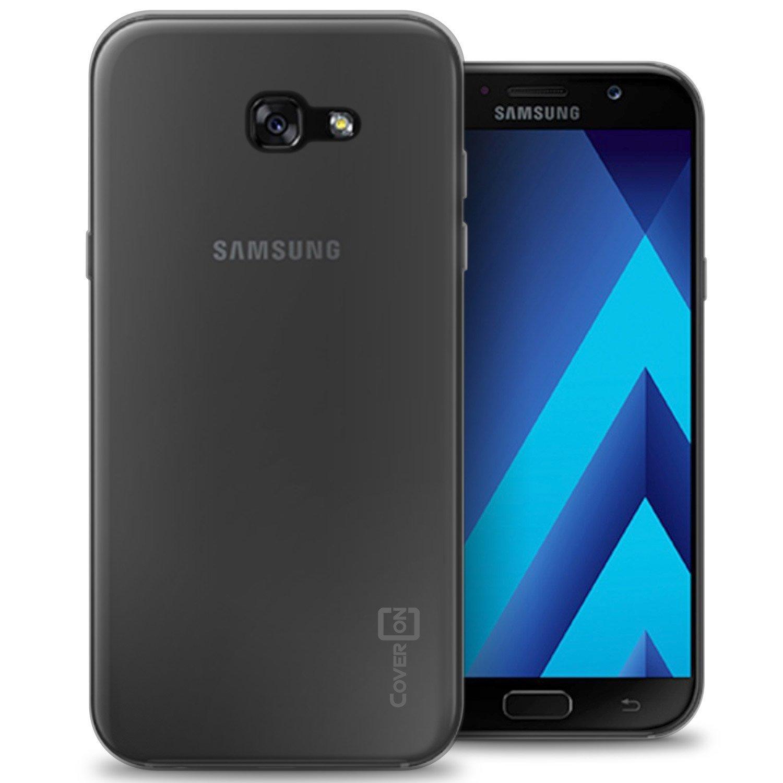 Ultra Thin TPU Soft Case for Samsung Galaxy A7 2017 Casing Cover - Abu-abu