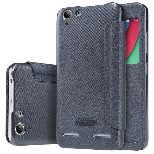 Nillkin Sparkle View Leather Case Casing Cover for Lenovo K5+ Plus - Hitam: Rp 153.000 Rp 117.000