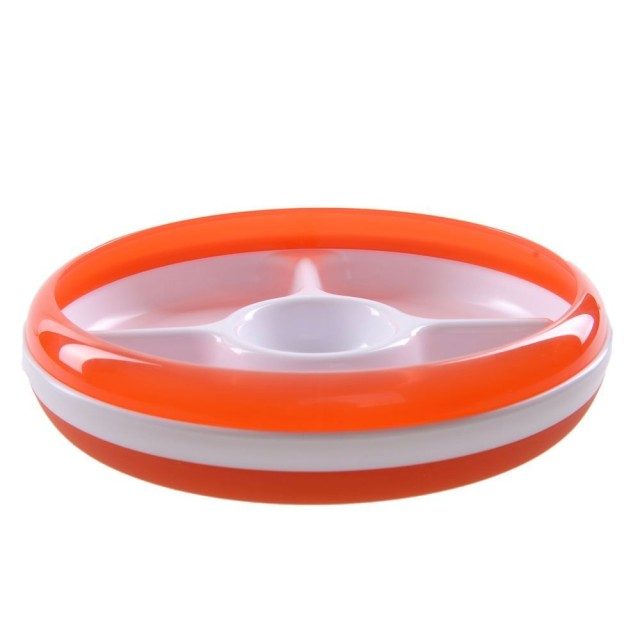 Oxo Tot Divided Plate with Removable Ring Orange: Rp 199.000