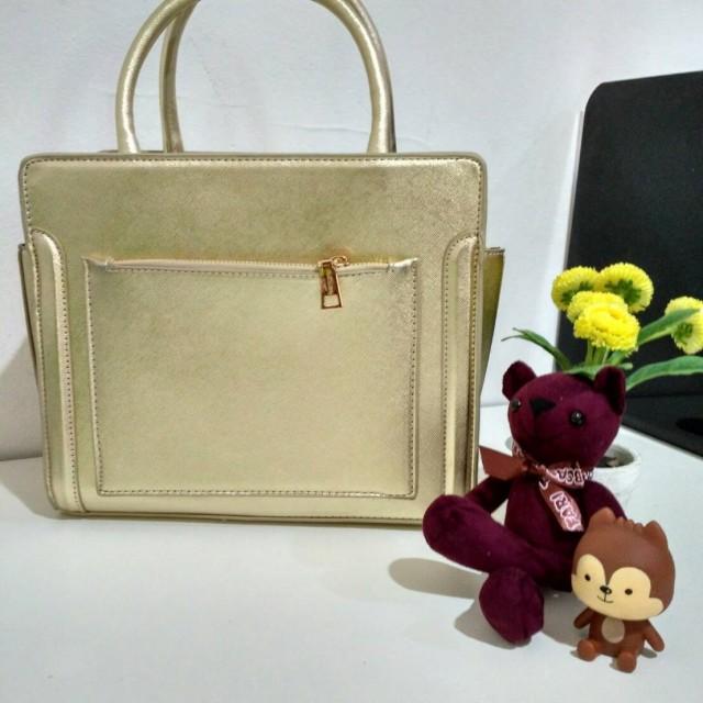 Tas Jims Honey Alona Bag Gold: Rp 225.000