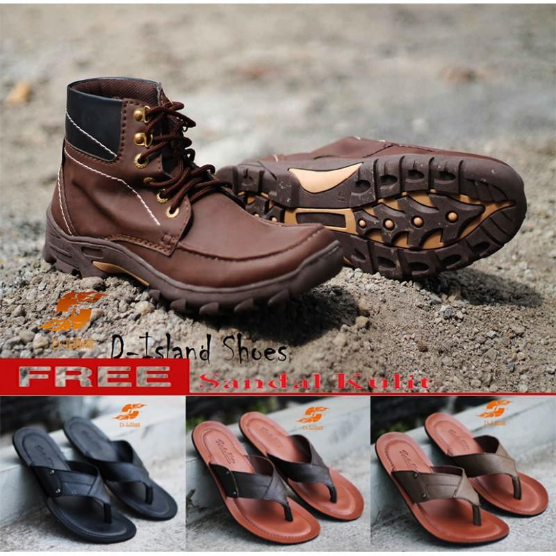 D-Island Shoes Boots Trekking Cowboy Dark Brown