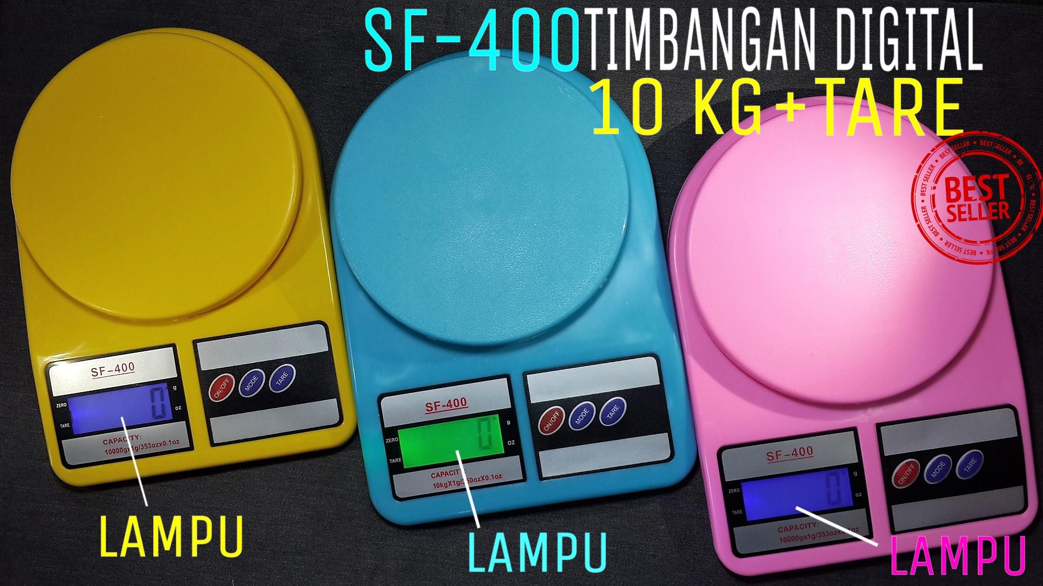 TIMBANGAN DIGITAL SF 400 + LAMPU LED BERAT 10 KG DAPUR GROSIR MURAH