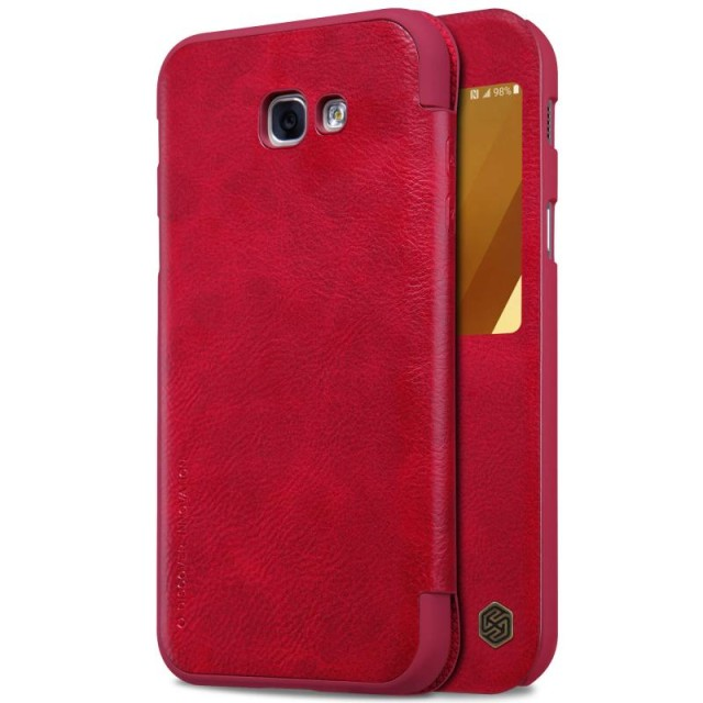 Nillkin Qin View Leather Case for Samsung Galaxy A7 2017 Casing Cover - Merah: Rp 200.000 Rp 149.000