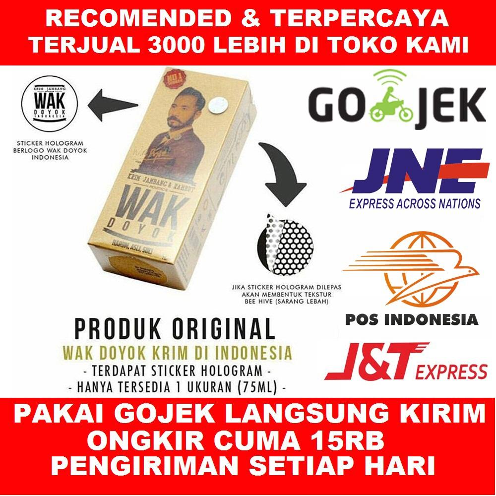 Je Corp Shop Line Wak Doyok 75 Ml Krim Jambang Jenggot Kumis Rambut Alis Cream 100 Original Penumbuh