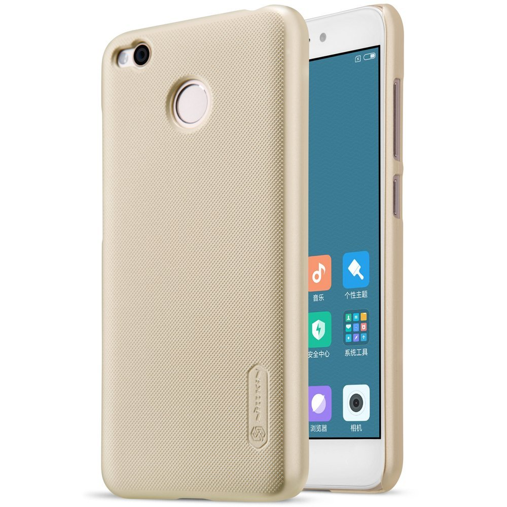 Nillkin Frosted Hard Case Casing Cover for Xiaomi Redmi 4X - Emas