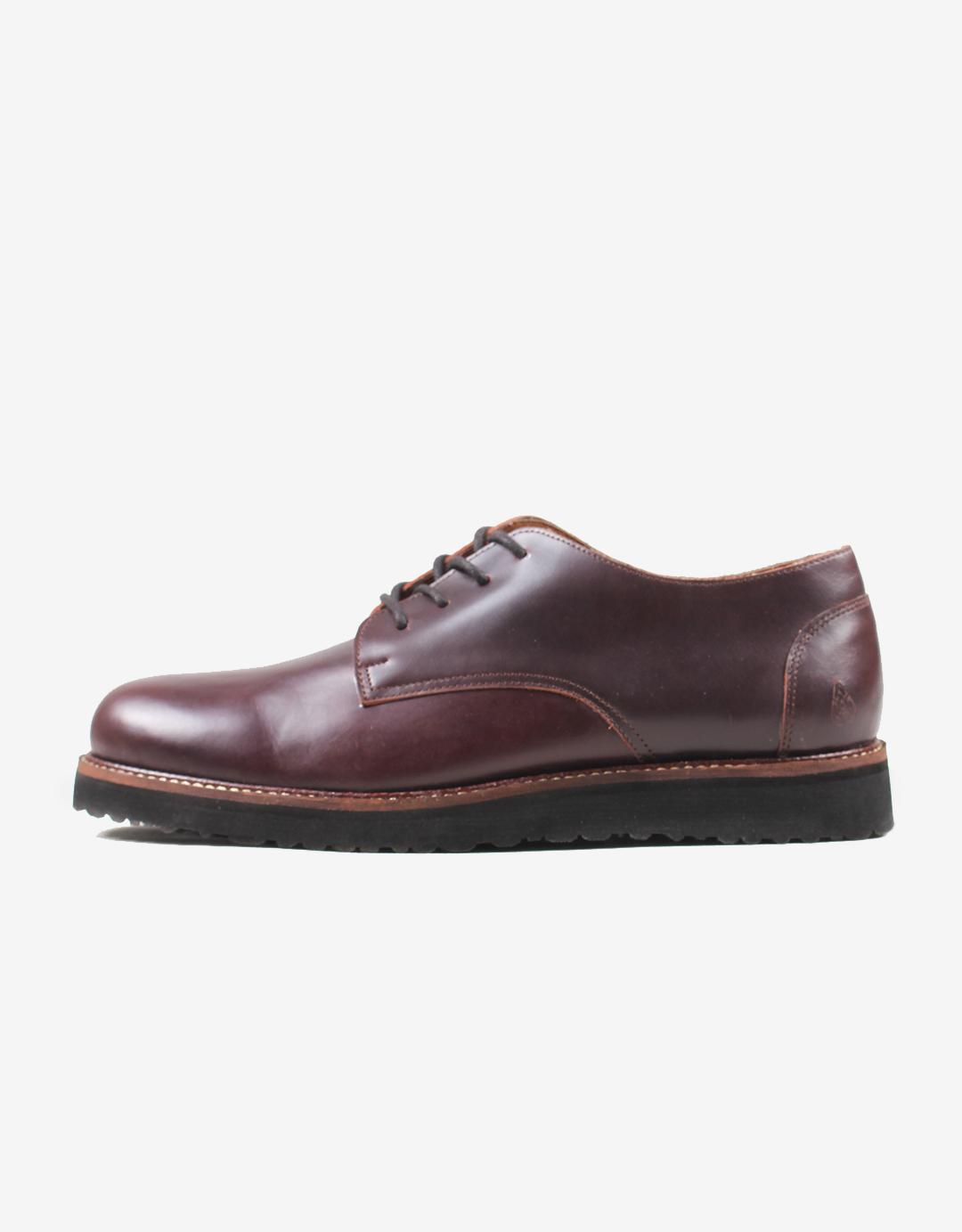Dagangan Bandung Shop Line Sepatu Pria Kasual Sneaker Kulit Asli Casual Formal Maroon Brown Premium Airrabu Derby Wine
