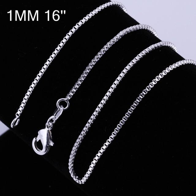 Bella & Co Chain Necklace LKNSPCC007-16 Aksesoris Kalung Rantai Lapis Silver: Rp 39.000