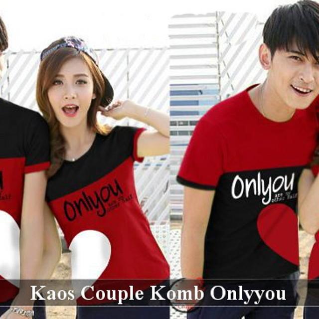 Kaos Couple Simple | Baju Pasangan Terbaru | Kaos Couple Komb Onlyyou: Rp 60.000