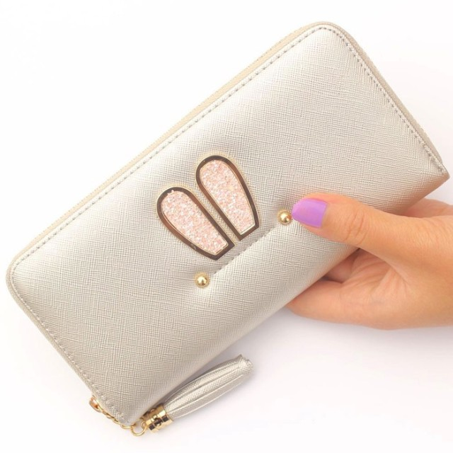 Bunny Long Fashion Wallet / Dompet Fashion Wanita / Korean Fashion Wallet-Silver: Rp