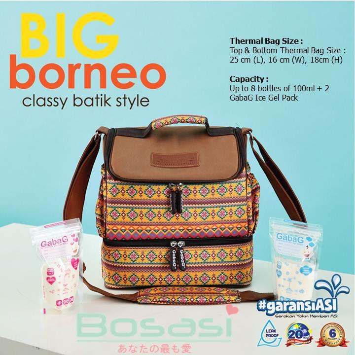 Gabag Big Borneo - Tas ASI Perah Tahan Dingin ( free ice gel GabaG 500
