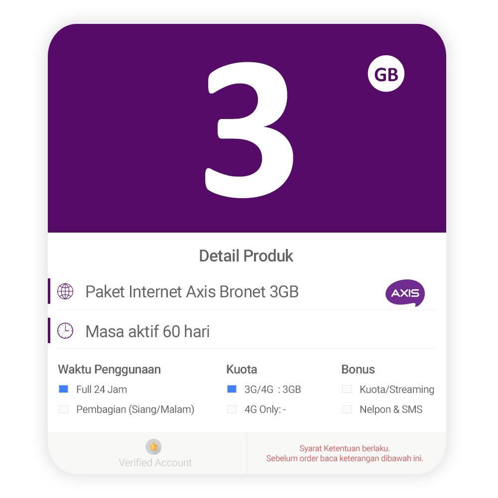 Dokter Internet Shop Line Axis 4g Dan 3g Non Bronet 3gb
