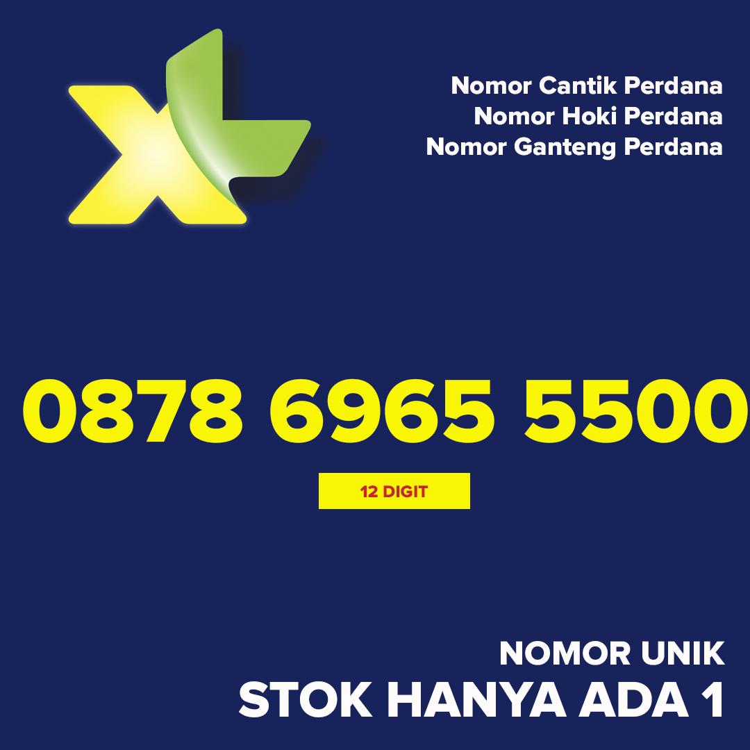 Kartu Perdana XL Nomor Cantik Hoki Ganteng 0878 696 55500