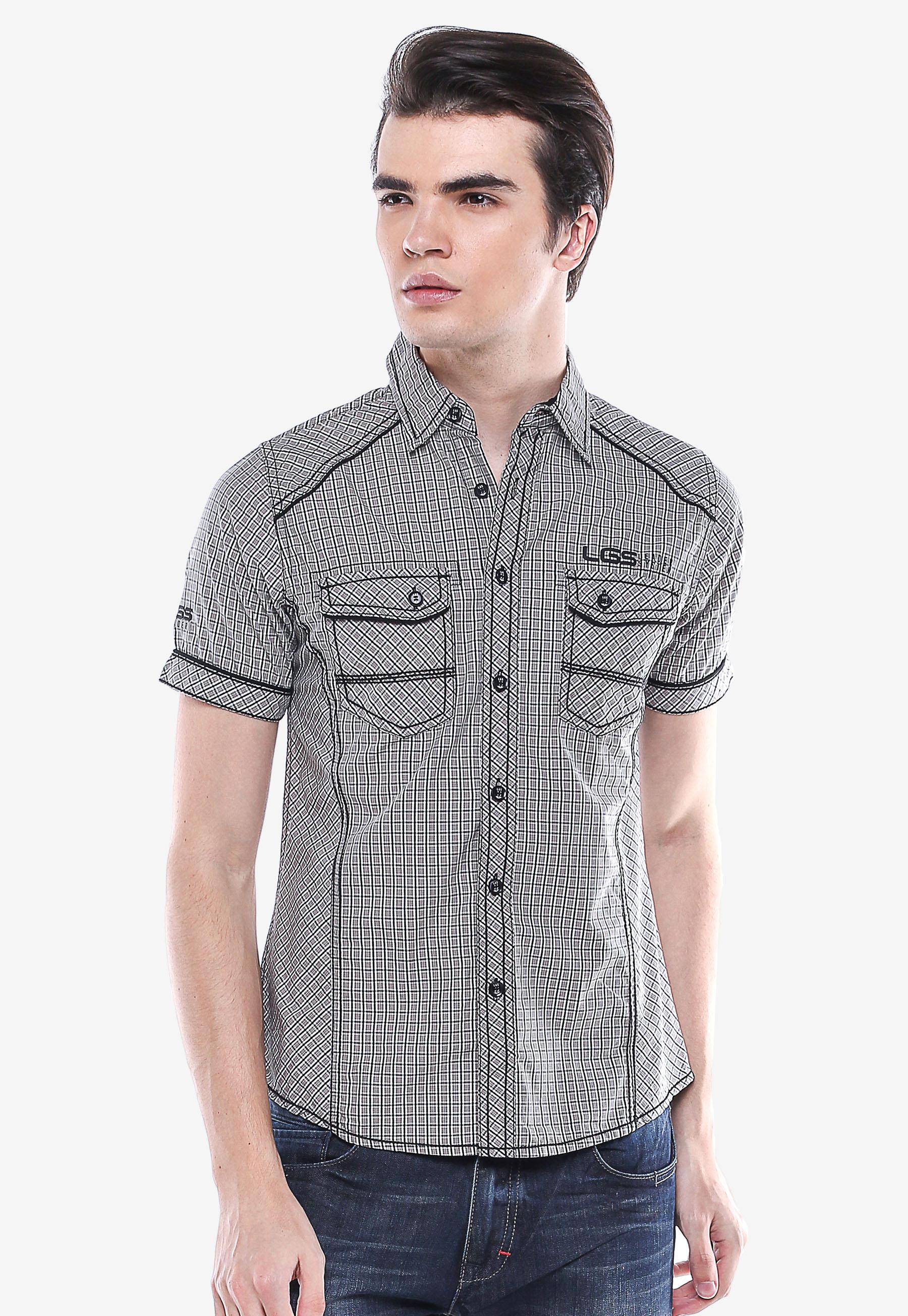 Lgsgeneration Shop Line Lgs Slim Fit Kaos Polo Salur Hitam Putih Xl Kemeja Fashion Abu Model Gingham