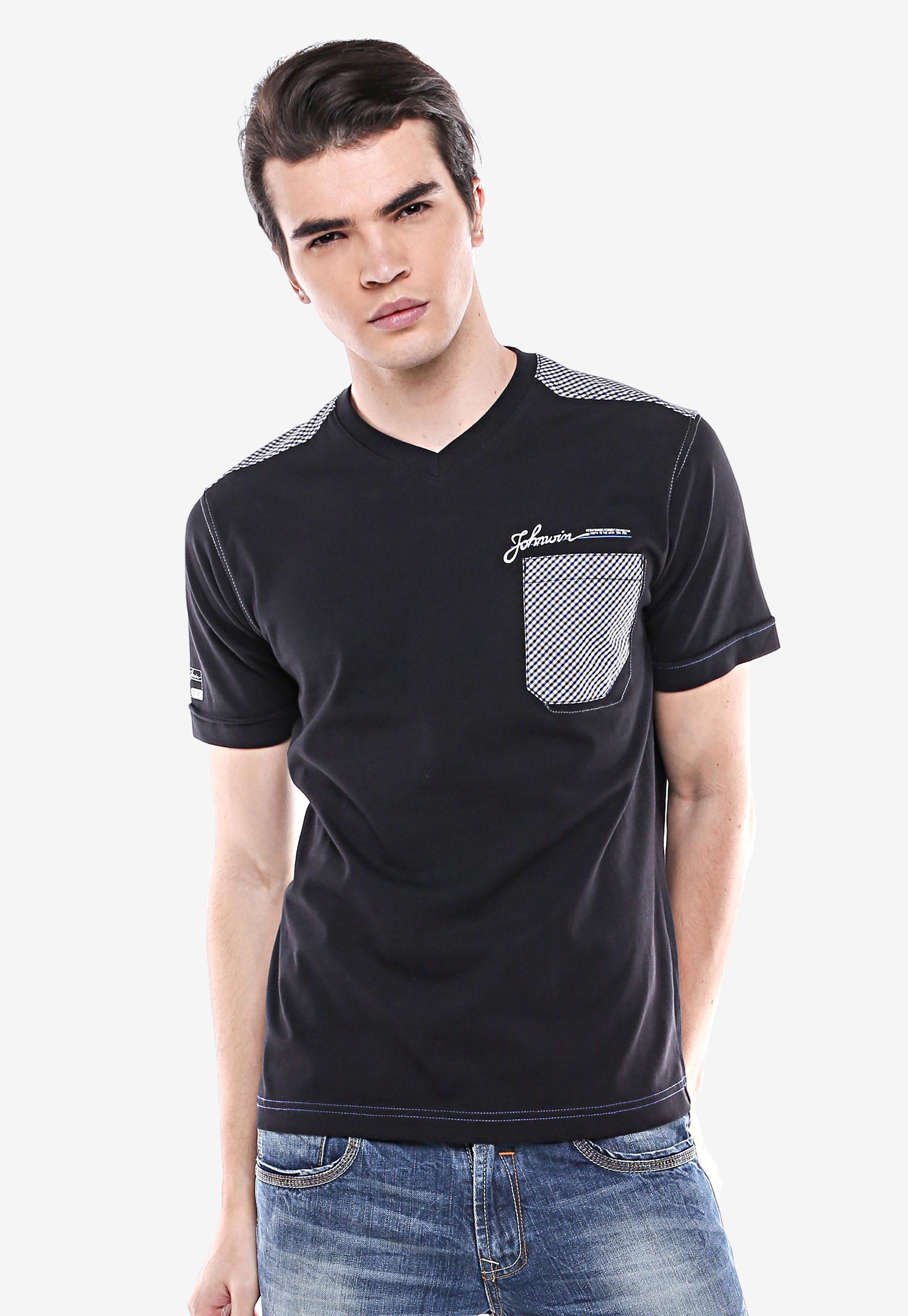 Lgsgeneration Shop Line Lgs Slim Fit Kaos Polo Biru Navy Garis Putih M Casual Hitam Kantong Kotak