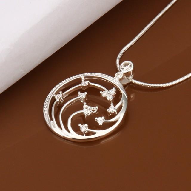 Bella&Co Necklace LKNSPCN437 Aksesoris Kalung Lapis Silver: Rp 39.000