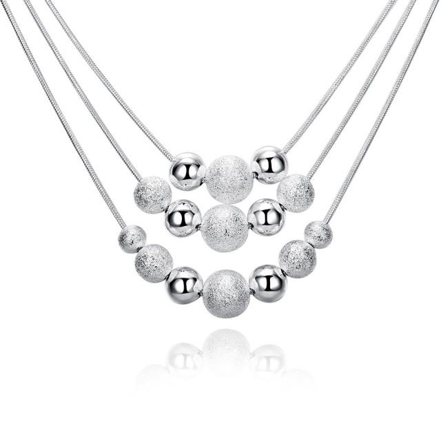 Bella&Co Necklace LKNSPCN020 Aksesoris Kalung Lapis Silver: Rp 39.000