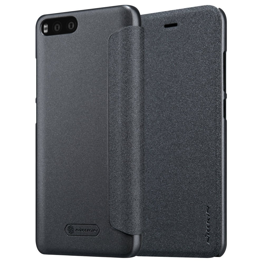 Nillkin Sparkle Leather Flip Case for Xiaomi Mi6 - Hitam