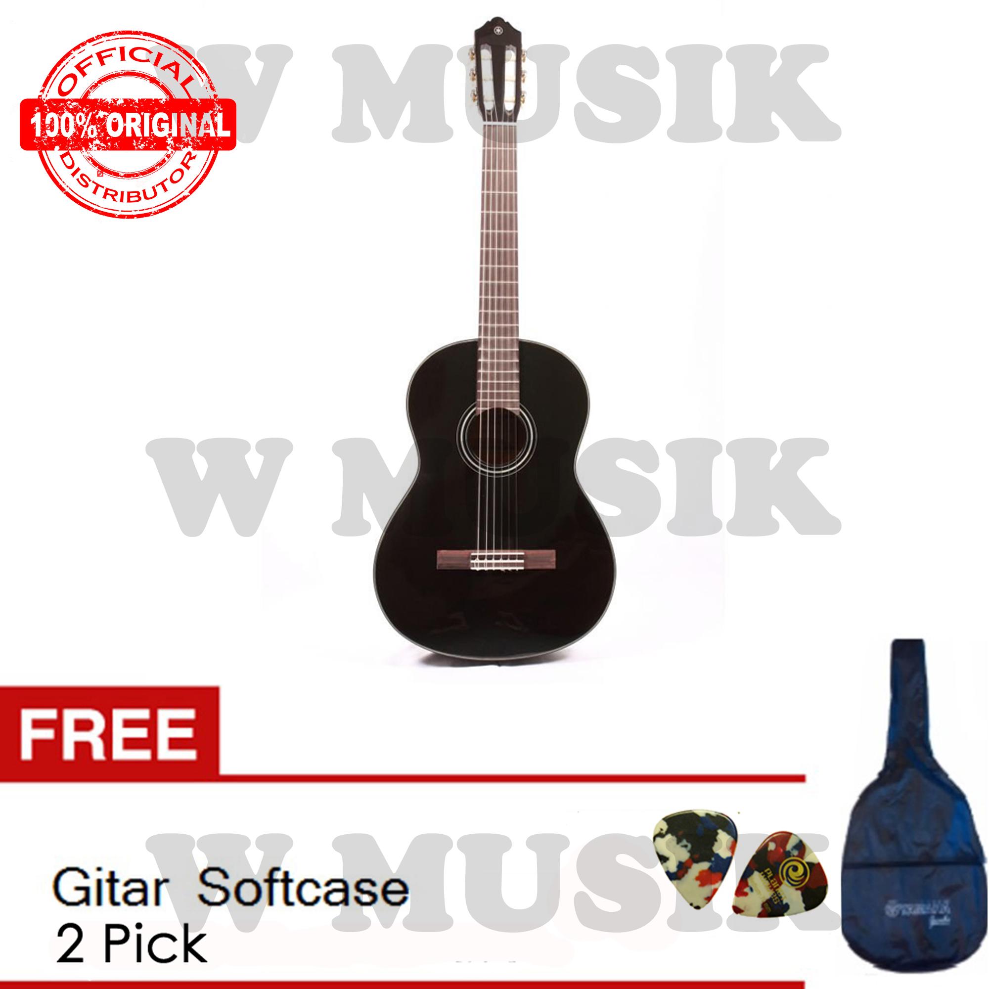 Yamaha Akustik Guitar C 40 - Hitam + Softcase & 2 Pick