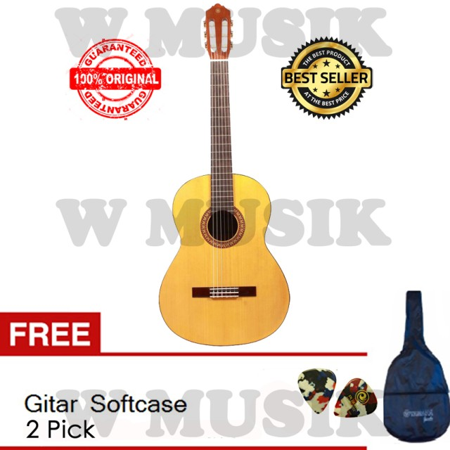 Yamaha Gitar Klasik C 315 + Yamaha Softcase & 2 Pick: Rp 749.000