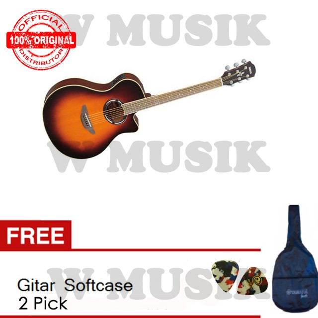 Yamaha Gitar Akustik Elektrik APX 500II - Old Violin Sunburst + Gratis Softcase + 2 Pick: Rp 2.269.000