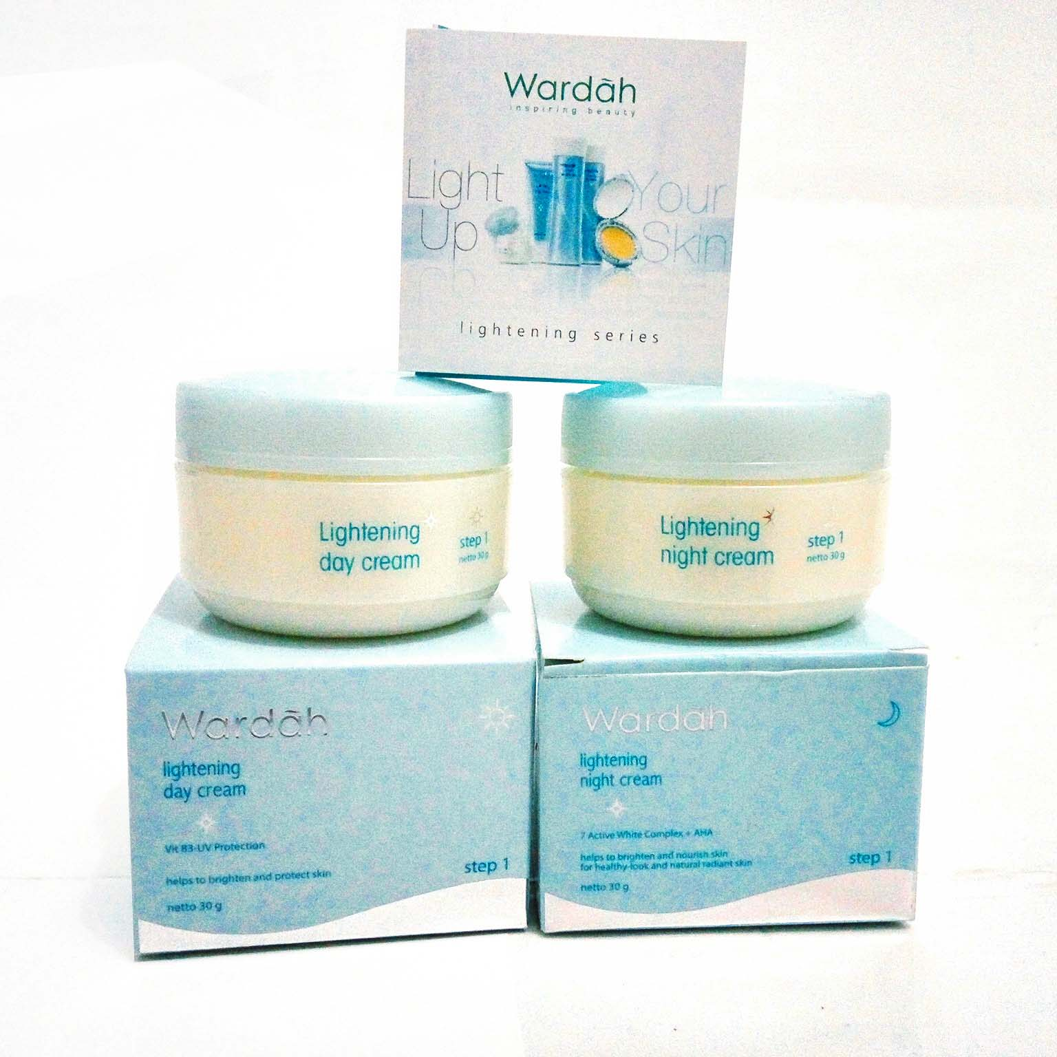 Wardah Step 1 Lightening Day Cream Muka 30gr Daftar Harga 30 Gr Krim Night