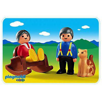 Playmobil 摩比 6722 老公公與老婆婆