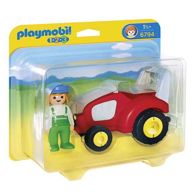 Playmobil 摩比 6794 小紅車/農場耕耘機/農場牽引機