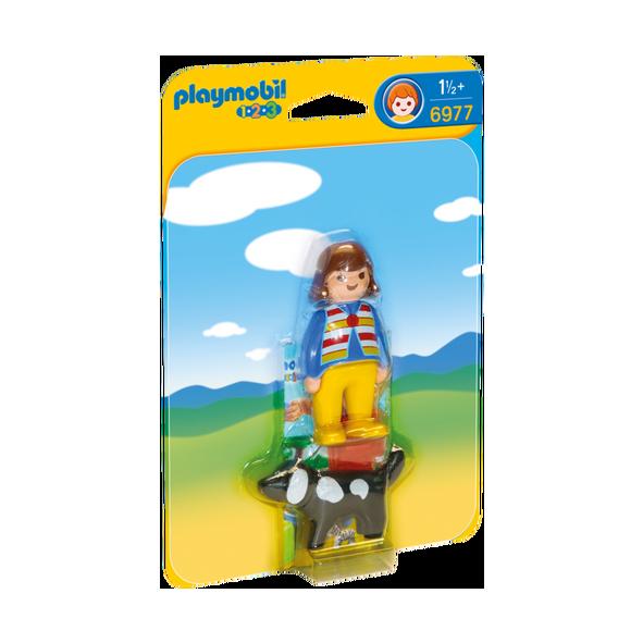Playmobil 摩比 6977 女孩與小狗
